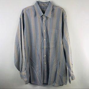 Peter Millar Striped Button Front Dress Shirt